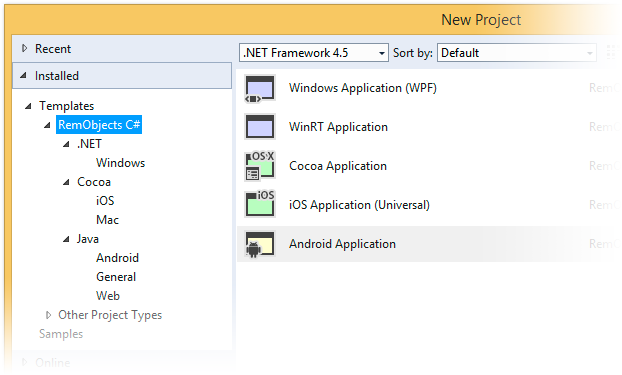 RemObjects Elements with Visual Studio 2015 Version 9.3.103 (Build 2211)